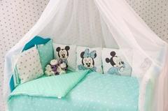 Комплект постельного в кроватку для новорожденного Микки