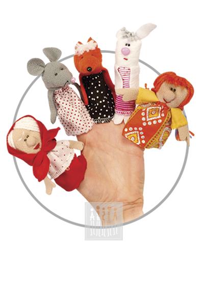 Куклы для пальчикового театра предназначены для мини-спектаклей, ежедневных досугов и утренников в детском саду. Игрушки выполнены из флиса, все мелкие детали аккуратно пришиты к основе.