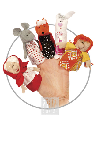 Картинка Куклы для пальчикового театра предназначены для мини-спектаклей, ежедневных досугов и утренников в детском саду. Игрушки выполнены из флиса, все мелкие детали аккуратно пришиты к основе.