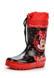 Резиновые сапоги Минни Маус (Minnie Mouse) на шнурках для девочек, цвет черный красный. Изображение 3 из 8.