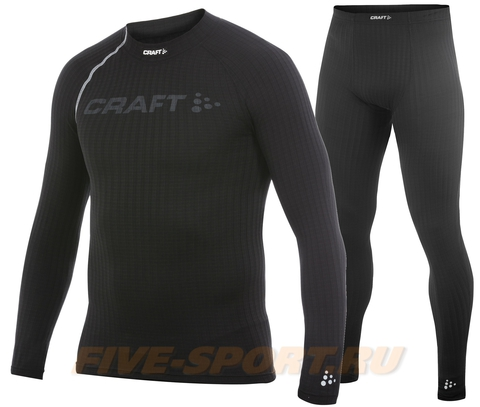 Комплект термобелья Craft Active Extreme мужской черный