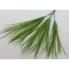 Трава осока тонкая, силиконовая, 5 веток, 40 см.