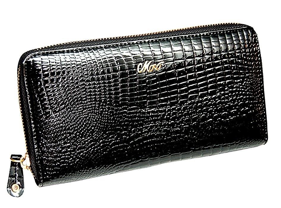 b1f950850d0a Купить женский черный кошелек на молнии Moro Jenny 59046 в интернет ...
