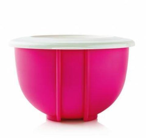 Двойное замесочное блюдо 1,5л в розовом цвете рис.2