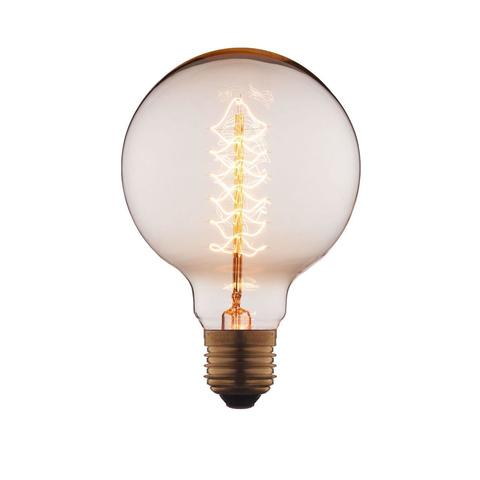 Лампа накаливания E27 40W шар прозрачный G9540-F