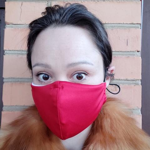 Фотография Маска защитная с фильтром и креплением для носа, красная купить в магазине Афлора