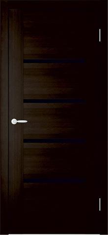 Дверь Фрегат Токио-2, триплекс чёрное, цвет венге, остекленная