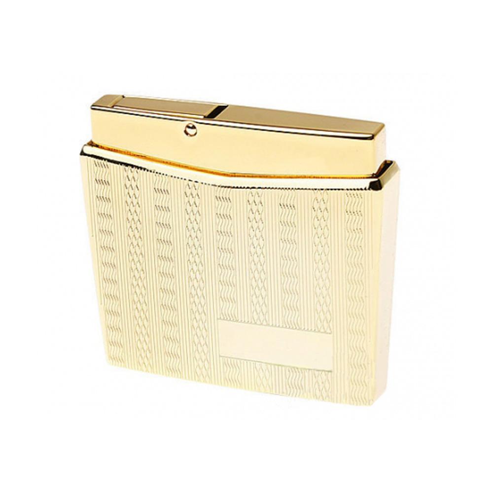 Зажигалка Pierre Cardin кремниевая газовая пьезо, цвет позолота с насечкой, 5,2х1,1х4,5см