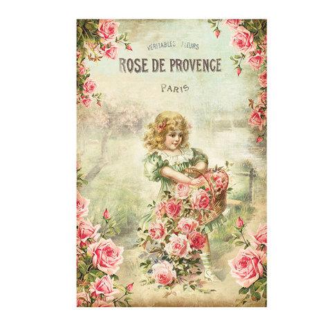 Водорастворимая бумага Винтажные открытки/Дети в цветах