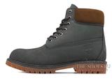 Ботинки Timberland 17061 Waterproof Grey Женские С Мехом