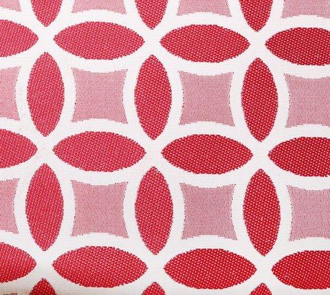 Портьерная ткань двухсторонний жаккард Любава красный