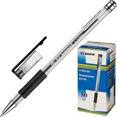 Ручка шариковая Beifa АА999 0,5мм черный с рез.манж.Китай