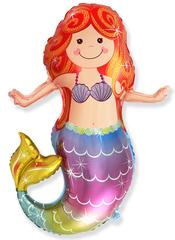 Шар (13''/33 см) Мини-фигура, Счастливая русалочка, 5 шт.