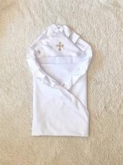 Крыжма для крещения Богородица белая