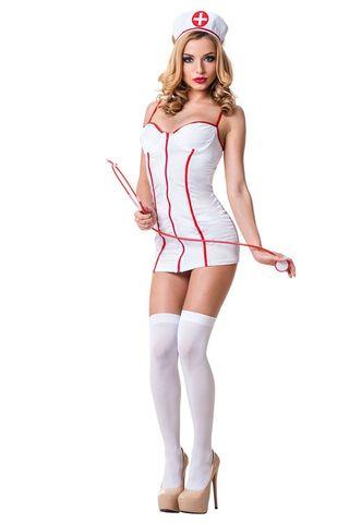 Костюм медсестры выполнен из полиэстера и эластана фото