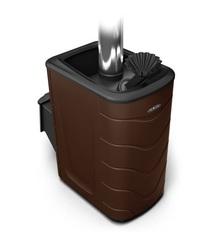 Банная печь Гейзер 2014 Inox ДА ЗК шоколад