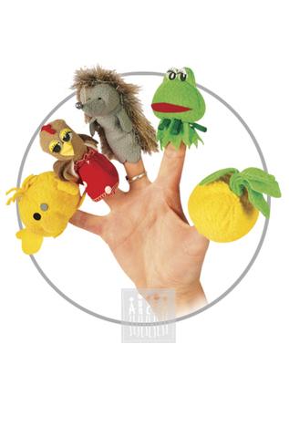 Картинка Пальчиковые куклы из ткани  подойдут для ежедневных досугов в детском саду, мини-спектаклей и утренников. Все игрушки выполнены из флиса и удобно сидят как на взрослых, так и на детских пальцах.