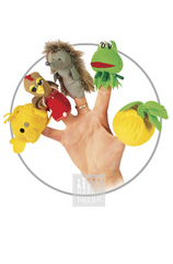 Пальчиковые куклы Комплект № 1 ( 5 штук : репка , лягушка , еж , курица , колобок )