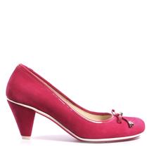 Туфли женские замшевые средний каблук
