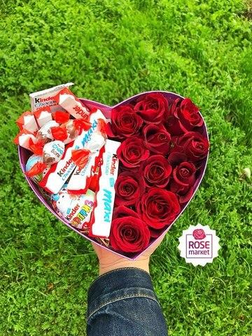Розы и Kinder сладости #1681