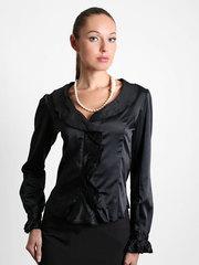 3614 блузка женская, черная