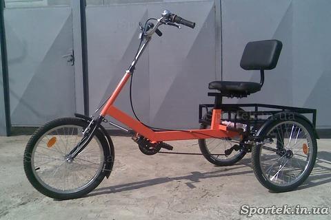 Трехколесный велосипед для пожилых людей, инвалидов - 'Атлет малый' (красный)