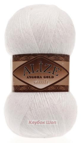 Alize Angora Gold SIMLI 55 белый - фото