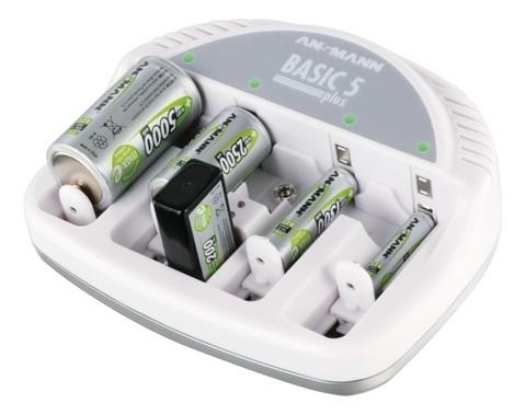 Стандартное Зарядное устройство ANSMANN Basic5 (АА,ААА,С,D, Е крона)