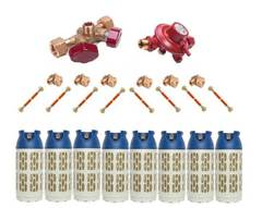 Газобаллонная система GOK (эконом) для подключения 8 композитных баллонов