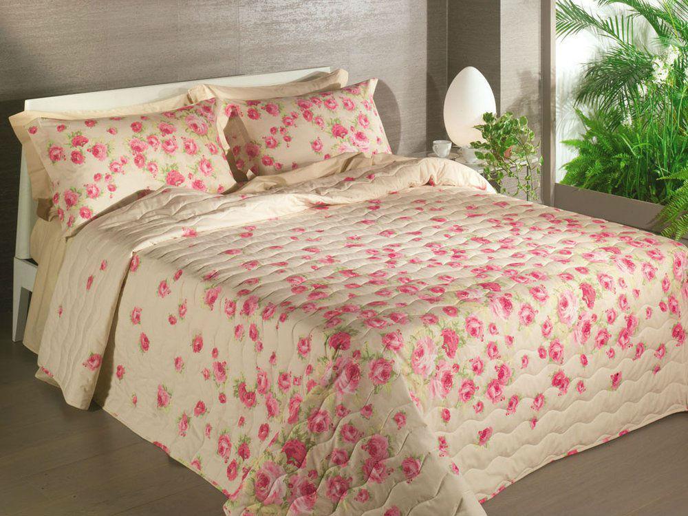 Покрывало 260х270 Caleffi Secret Garden розовое