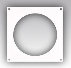 Накладка торцевая для круглых воздуховодов 100 мм пластиковая