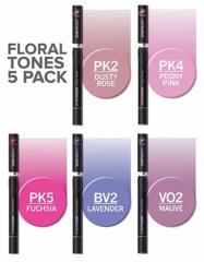 Набор маркеров Chameleon Floral Tones, цветочные тона, 5 шт.