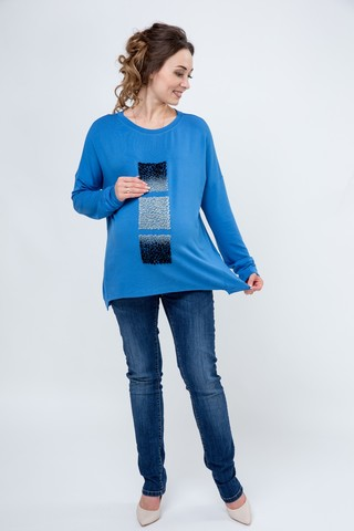 Блузка для беременных 09136 синий