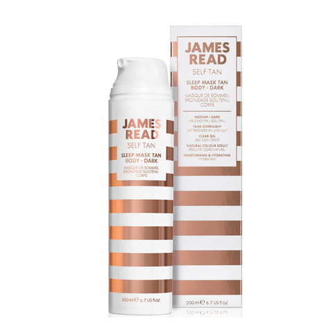 JAMES READ | Ночная маска для тела уход и загар темная, (200 мл)