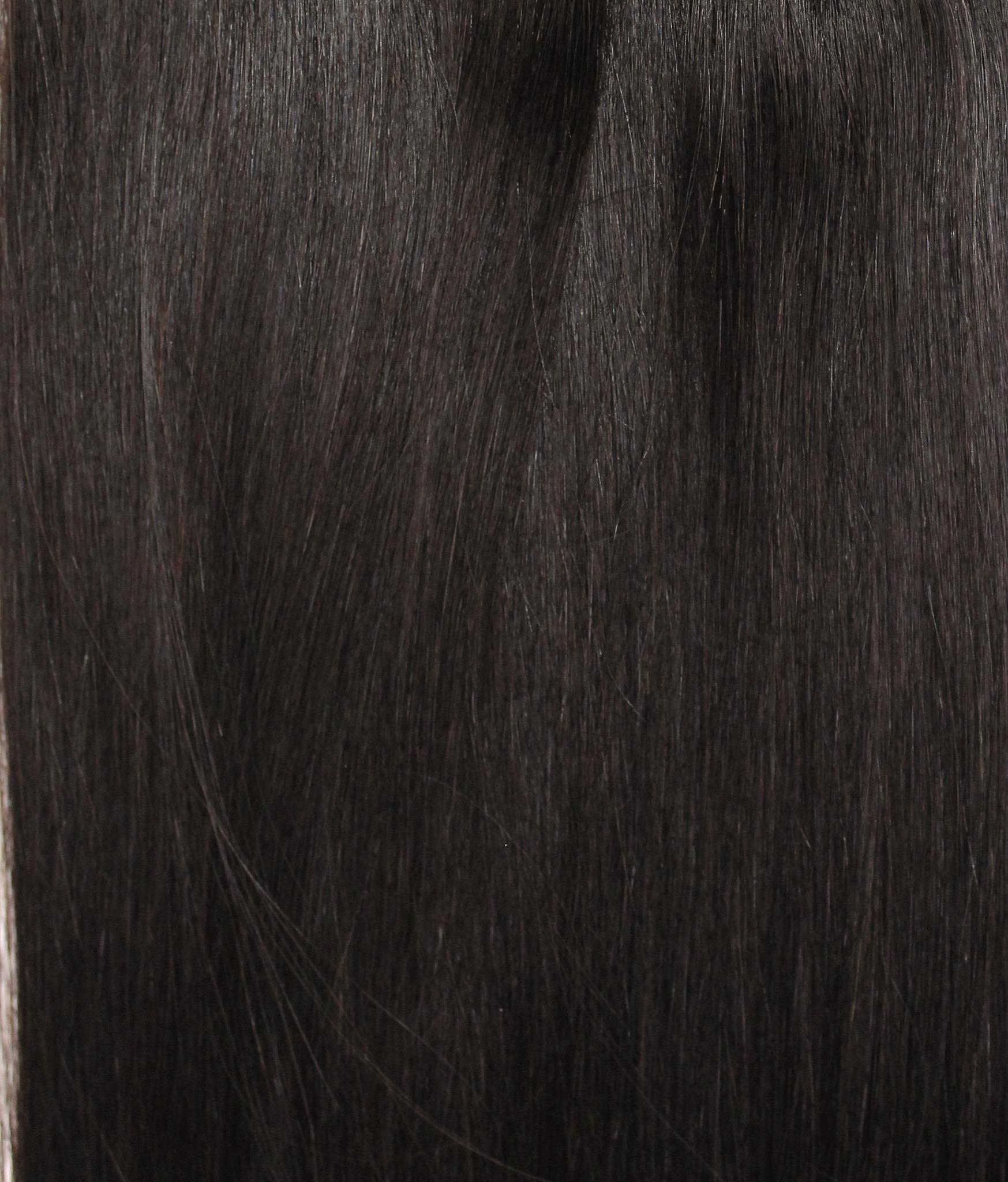 Длина 45 см -Оттенок 1B-Темно коричневый с черным отливом