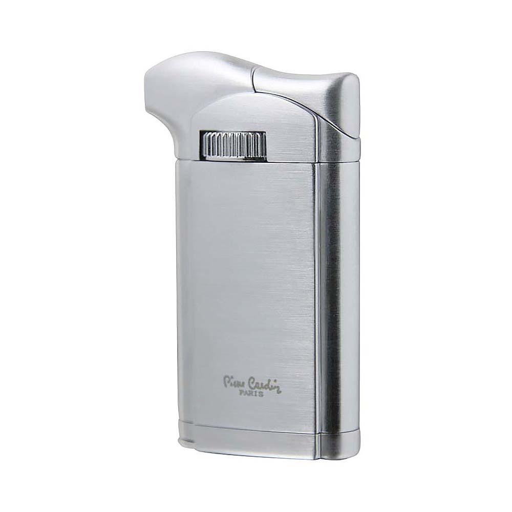 Зажигалка Pierre Cardin газовая пьезо, для трубок+ тампер, цвет серебристый 3,5х1,4х7,2см