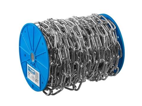 Цепь длиннозвенная, DIN 763, оцинкованная сталь, d=8мм, L=18м, ЗУБР Профессионал