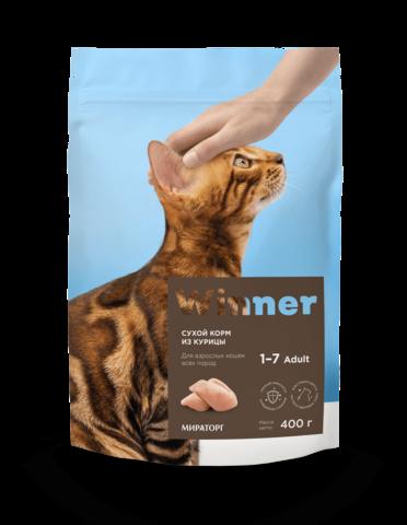 Сухой корм Winner Мираторг для взрослых кошек всех пород