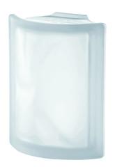 Угловой стеклоблок матовый бесцветный волна Vetroarredo Neutro ANGOLARE T SAT 19x4x15x8