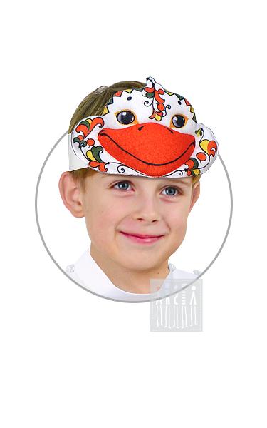 Маска Гуся с Пермогорской росписью изготовлена на профессиональном оборудовании и рассчитана для долгого использования в детском учреждении.