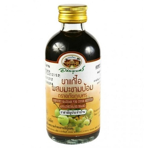 Сироп от кашля Compound Makham Pom Cough Mixture Abhaibhubejhr, 60 мл