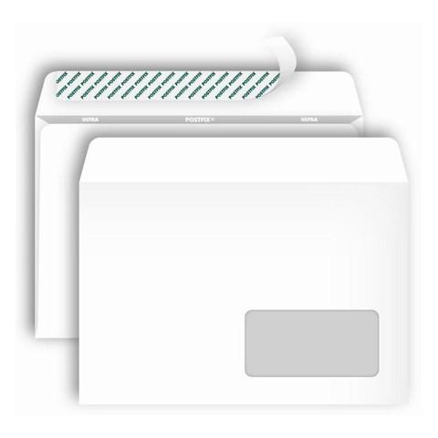 Конверты POSTFIX С5 стрип, пр.окно 162х229, 80г/м2, 1000шт/уп