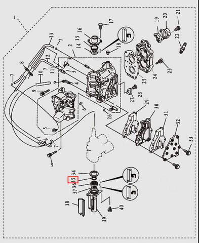 Кольцо корпуса сальника к/в 45x2.5 для лодочного мотора T9.8 Sea-PRO (2-35)