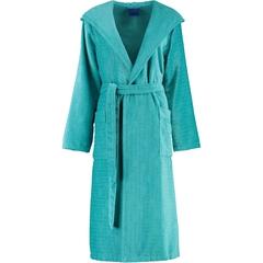 Элитный халат велюровый 1638 бирюзовый от JOOP! - Cawo