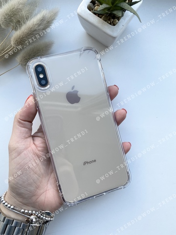 Чехол iPhone XS Max Simple simple angle silicone /transparent/ 443