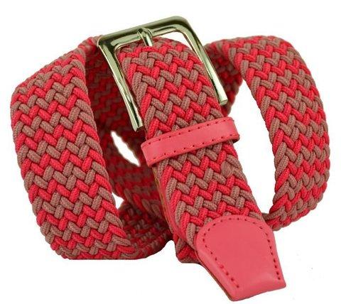Ремень-резинка текстильный розовый 35 мм 35Stropa-R-124