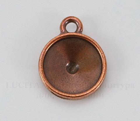Сеттинг - основа - подвеска TierraCast для страза 12 мм (цвет-античная медь)