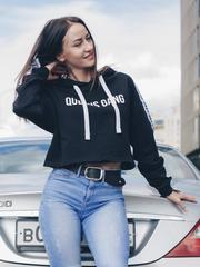 Женская короткая толстовка с капюшоном Olimp GUILTY BLACK