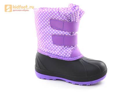 Зимние сапоги для девочек непромокаемые с резиновой галошей Пони (My little Pony), цвет сиреневый, Water Resistant. Изображение 2 из 15.