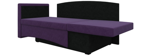 Кушетка Принц вельвет фиолетовый+черный